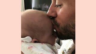 Enrique Iglesias kissing his baby  so adorable