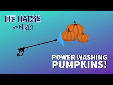 LIFE-HACKS-with-Nikki-Power-Washing-Pumpkins