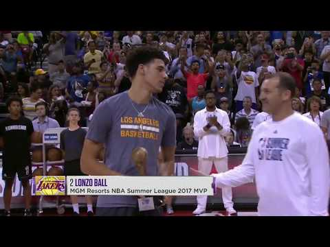 Lonzo Ball Accepts 2017 MGM Resorts Summer League MVP Trophy