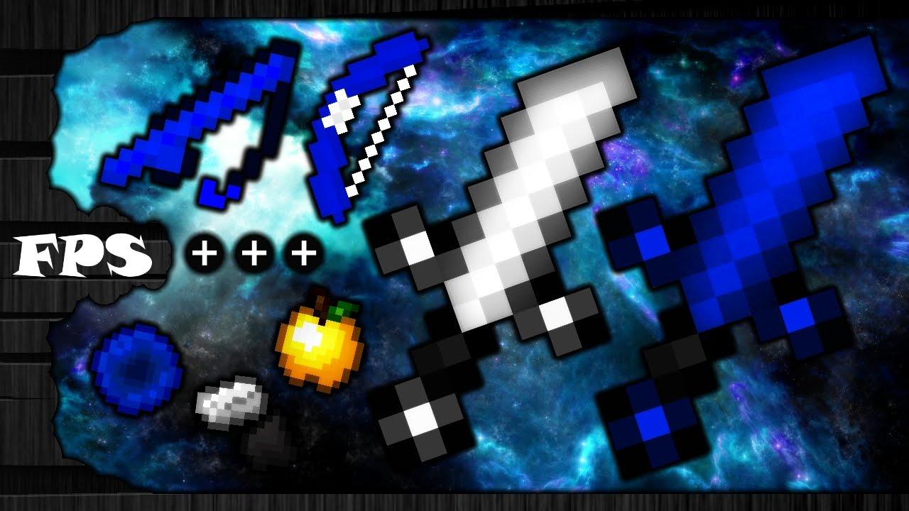 MINECRAFT PVP TEXTURE PACK - ELMAYO97 ICE PACK BLUE DEFAULT EDIT MCSG. UHC. KOHI FPS+++ 1.7.X/1.8.X - YouTube