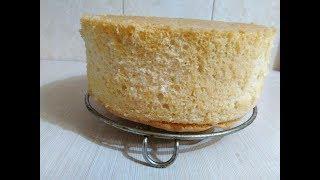 Бисквит  Самый простой рецепт