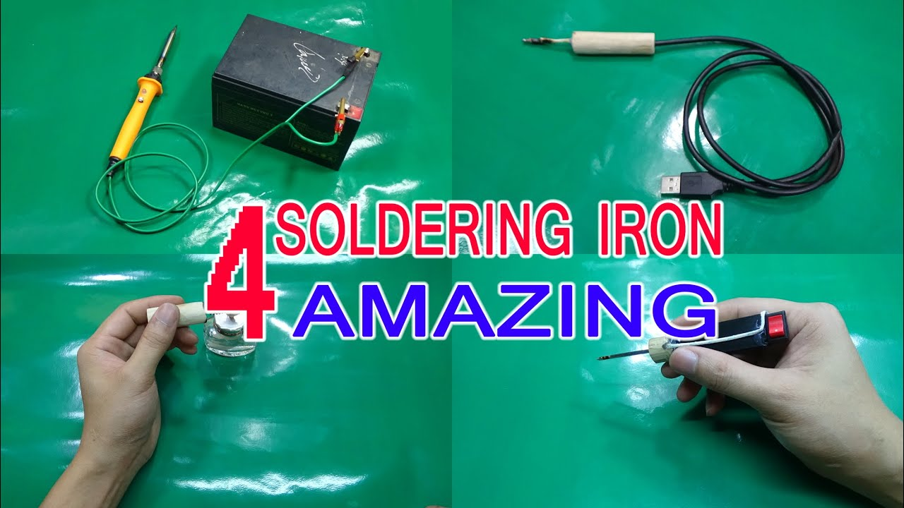 4 Ways Amazing To Make A Soldering Iron At Home - YouTube