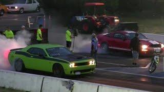 Revenge- Hellcat vs Shelby GT 500 drag race 1/4 mile