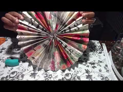 Diy paper rossetta  easy/ party ,home, wedding decor/ diy paper fan