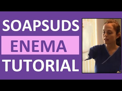 How To Give A Soap Suds Enema Administration
