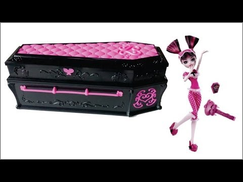 Draculaura Jewelry Box Coffin unboxing review Monster High YouTube