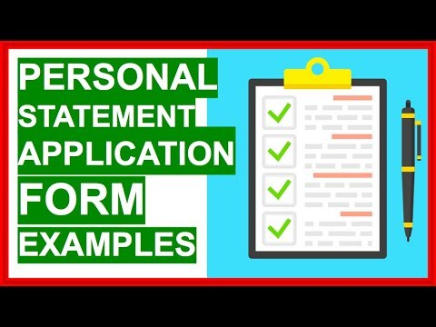 PERSONAL STATEMENT Application Form (EXAMPLES) How To Write A Personal Statement!
