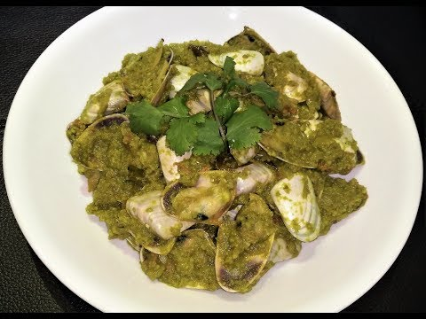 Clams in Green Masala!! Quick and Easy