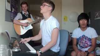 Pompeii/Overjoyed/Poet mashup (Bastille) - Andy, Amin & Josh - Rehearsal