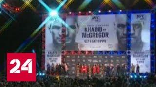 Смотреть видео Дагестан ждет, что Хабиб выбьет зубы Цыпленку - Россия 24 онлайн