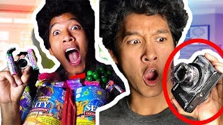 HACKING FIREWORKS DESTROYED MY CAMERA!!! GIANT POPPER 4000 PIECES
