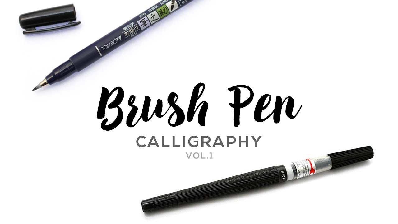 Brush pen calligraphy vol youtube