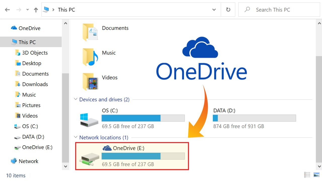 Map OneDrive as a Network Drive in Windows 10, 8, 7 - YouTube
