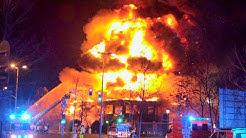 [HEFTIGE EXPLOSION BEI GROSSBRAND | DÜSSELDORF] - Feuerwehrleute verletzt | Massive Rauchentwicklung