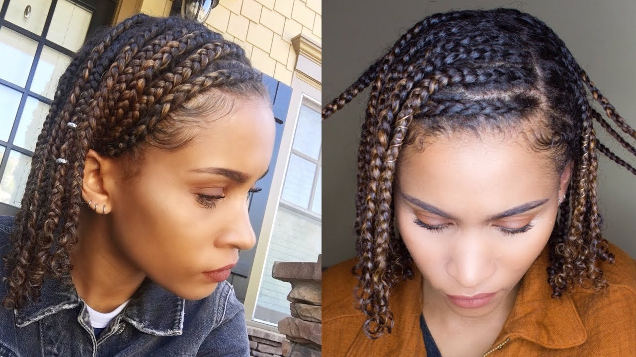 Natural Hair Styles With Marley Hair: Mini BRAIDS!! Easy Protective Style For NATURAL HAIR