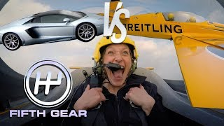 Lamborghini Aventador vs. A Plane - The FULL challenge | Fifth Gear