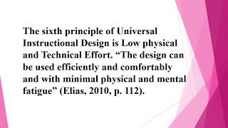 Universal Design Principles for 123 Good For Me