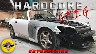 Wrecked Honda S2000 Rebuild | We Paint The S2000 | Ep# 4 | 4K