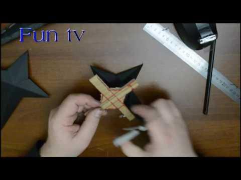 How to make a paper kunai knife    kunai sword