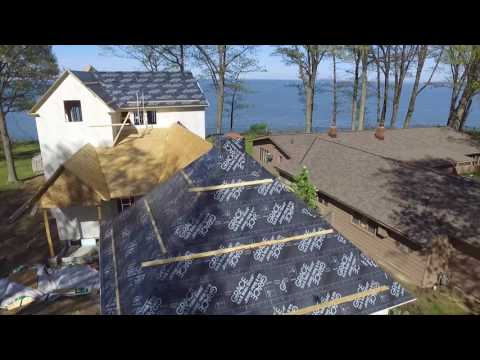 Ohio Architect's Home: Aerial view over Lake Erie