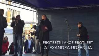 Proslov Alexandry Udženija na protestní akci proti EET