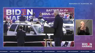 Joe Biden Speech in Durham, North Carolina LIVE | Joe Biden For President 2020