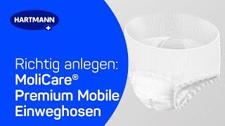 Produktvideo zu Inkontinenz-Slip Hartmann MoliCare Premium Mobile 6 Tropfen (14 Stück)