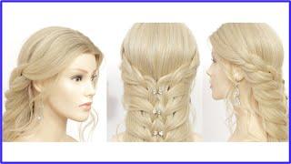 Легкая прическа Прическа для длинных волос Плетение кос