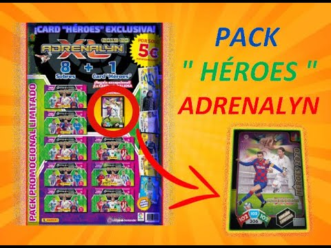 """🔥🔥 PACK PROMOCIONAL """" HÉROES """" ADRENALYN XL 2019-20 - el cromero 19 YT🔥🔥 from YouTube · Duration:  15 minutes 31 seconds"""