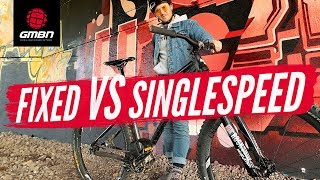 Fixed Vs Single Speed | How Hard Can You Ride A Fixed Gear Mountain Bike?