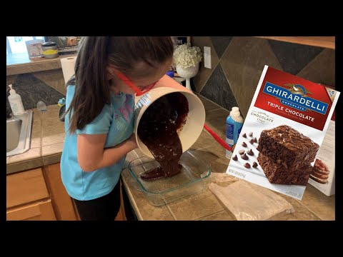 We Made Brownies! Ghirardelli Triple Chocolate Brownie Mix