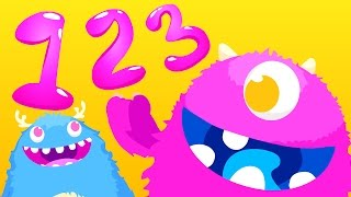 Learn to Count with Monsters! | Kids Songs | by Little Angel