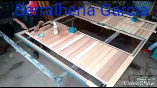 Como fazer portão em madeira