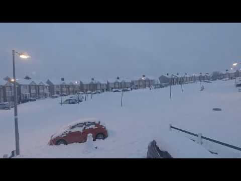 The Beast From The East and Storm Emma Time-lapse