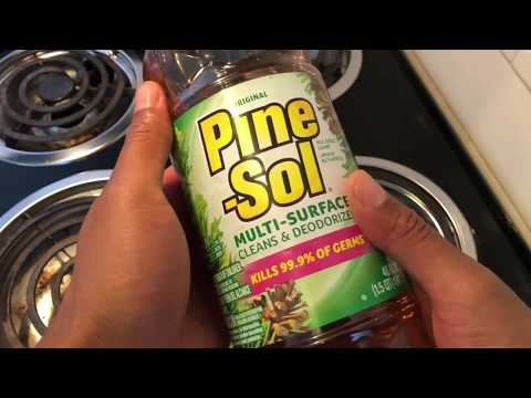Cleaning my stove with Pine-Sol – how to clean