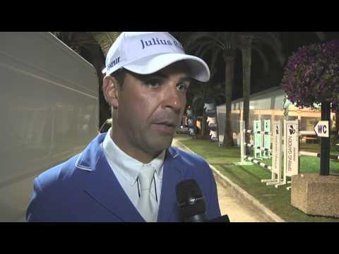 Longines Global Champions Tour 2013 - Cannes - Alvaro de Miranda Neto interview (CSI5* 1.50m winner)