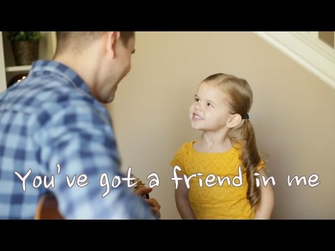 You've got a friend in me - 4 Year Old Claire Ryann and Dad - AMAZING