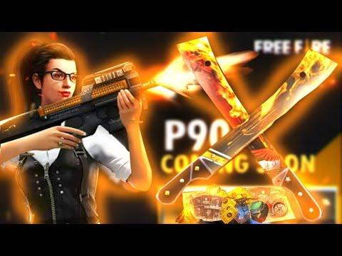 FREE FIRE- JOGANDO E UPANDO RANKING COM A NOVA ARMA P90! E AGRADECENDO OS 50K DE INSCRITOS DO CANAL!