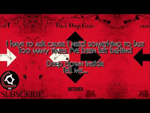 """Three Days Grace - Love Me Or Leave Me (LYRIC VIDEO) [From the """"Outsider"""" album 2018]"""