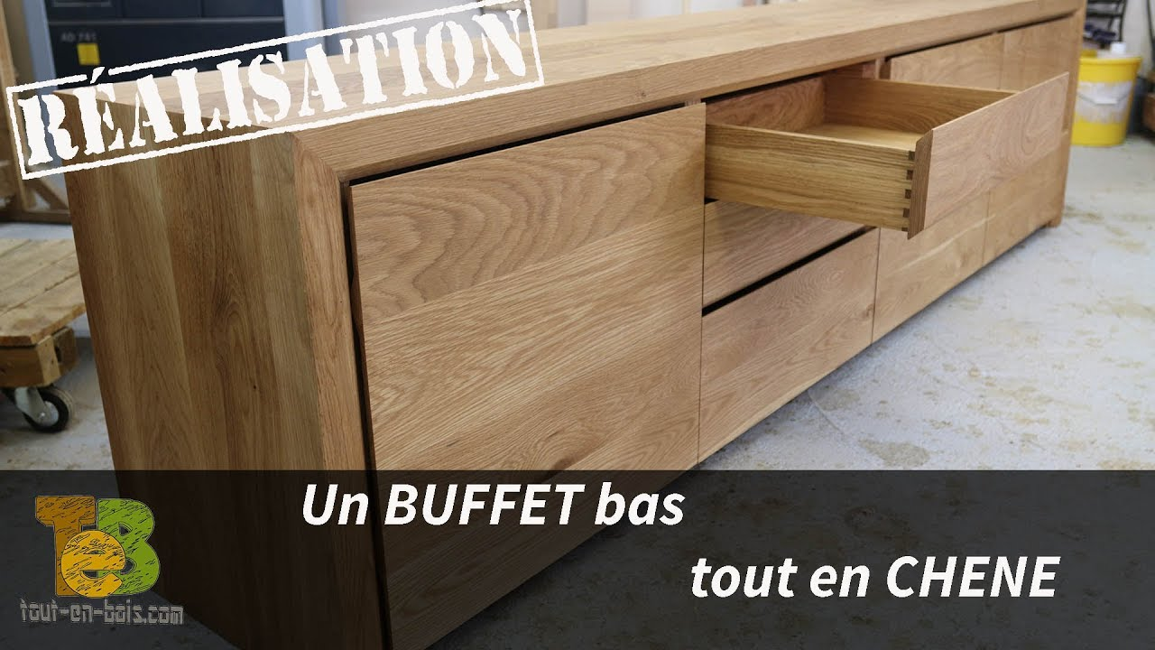 r alisation d 39 un buffet design en ch ne le travail du bois youtube. Black Bedroom Furniture Sets. Home Design Ideas