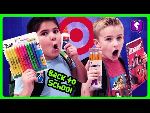 TARGET BACK TO SCHOOL HAUL! Shopping For Supplies with HobbyKids