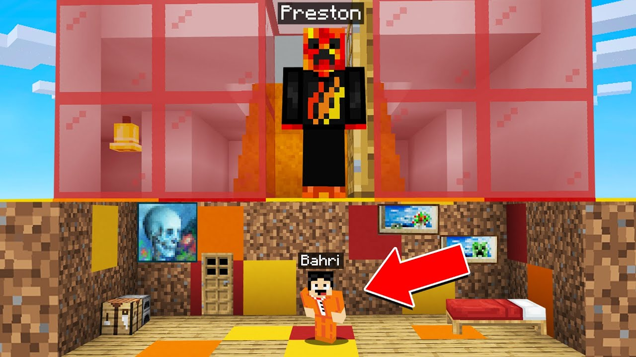 I Built A Tiny House Under Preston In Minecraft