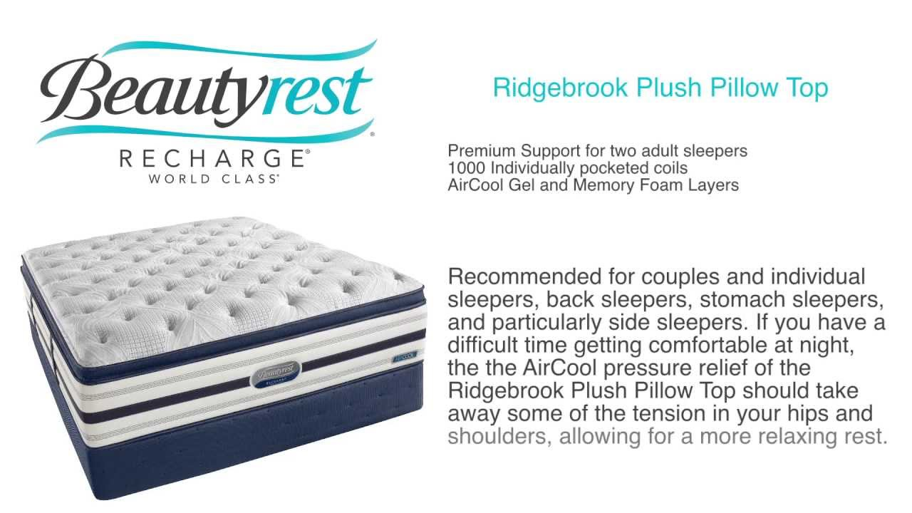 simmons beautyrest recharge review. Mattress Direct - Product Review Beautyrest World Class Ridgebrook Plush Pillow Top YouTube Simmons Recharge S