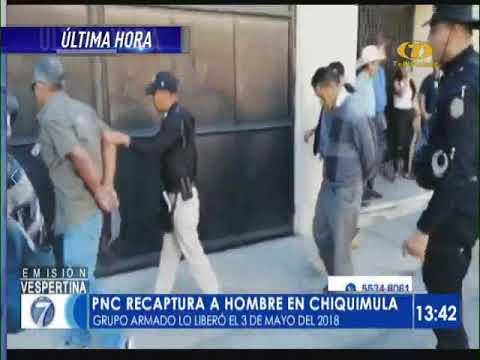 PNC Recaptura A Hombre En Chiquimula