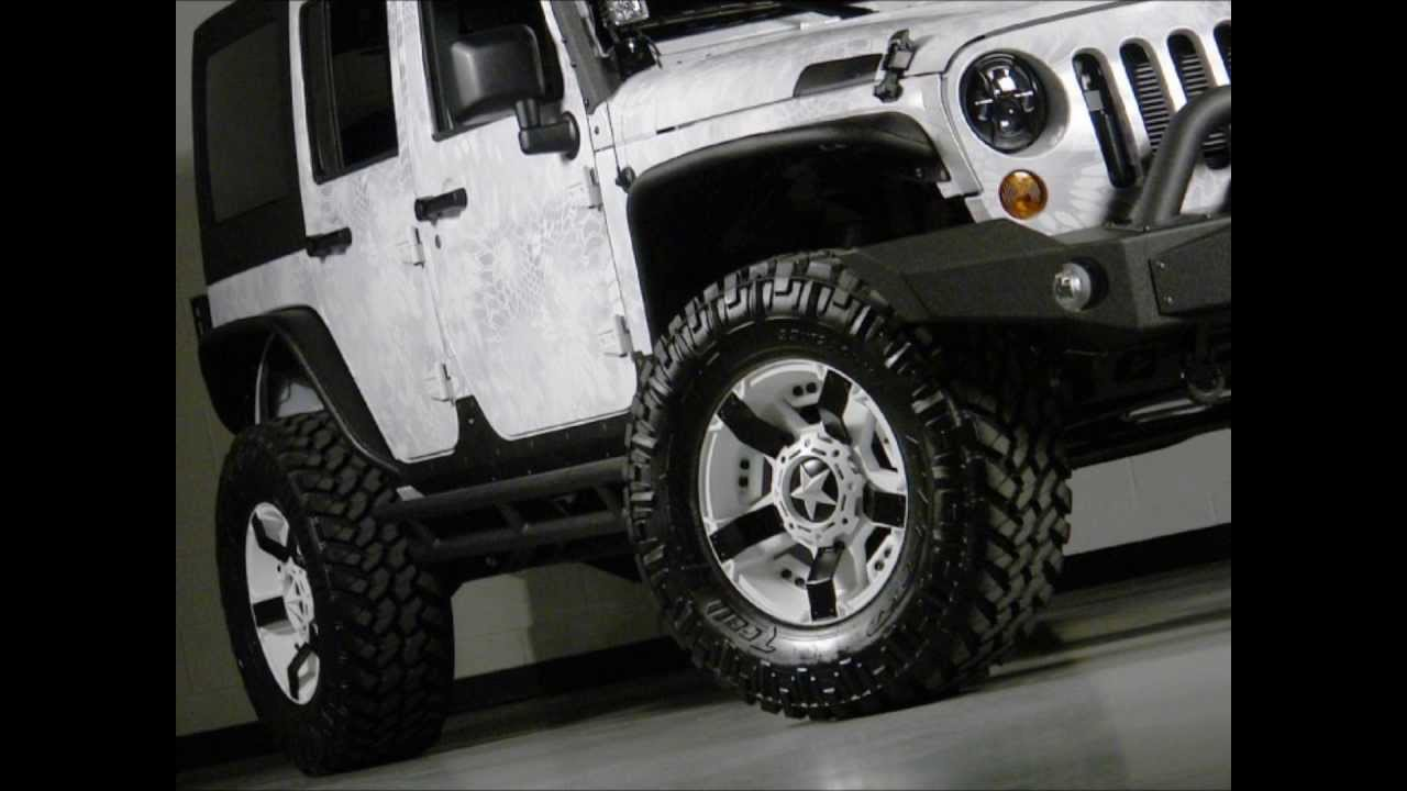 Lifted 2013 Jeep Wrangler Unlimited Custom Leather Kryptek