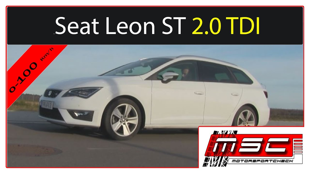 seat leon fr st dsg 2 0 tdi 220 ps 0 100 100 200 launch control test youtube. Black Bedroom Furniture Sets. Home Design Ideas