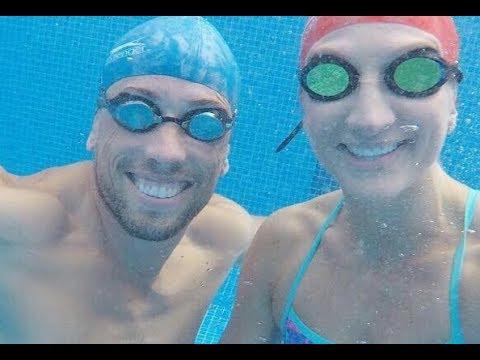 Can Sam beat Olympic swimmer Rebecca Adlington?