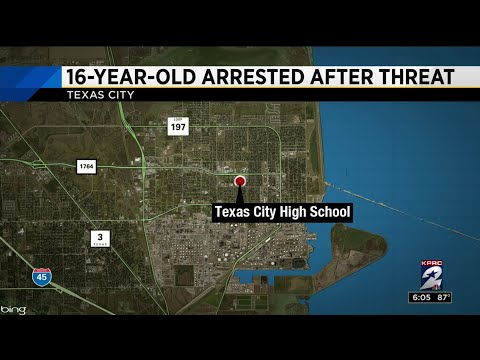 16-year-old student arrested after threat found at Texas City High School