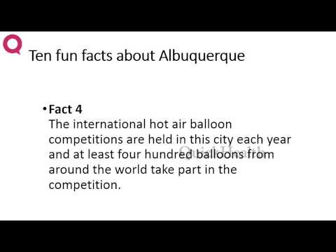 Ten facts about Albuquerque | MY HEALTH | HEALTH TIPS