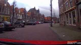 Driving into Weesp, Netherlands.
